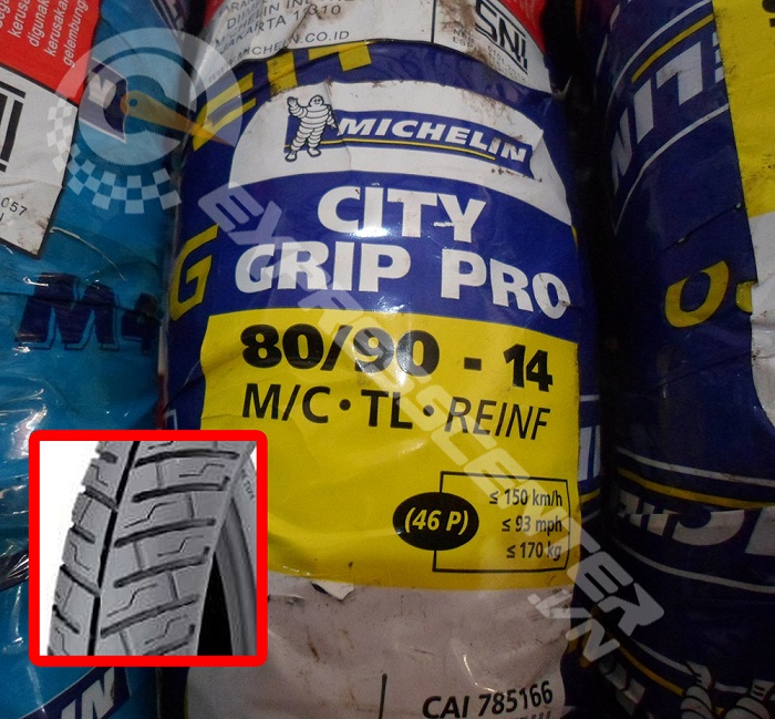 Vỏ xe Michelin City Grip pro 80/90-14 STD-716 Michelin